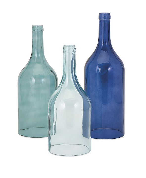 IMAX Monteith Blue Cloche Bottles - Set of 3