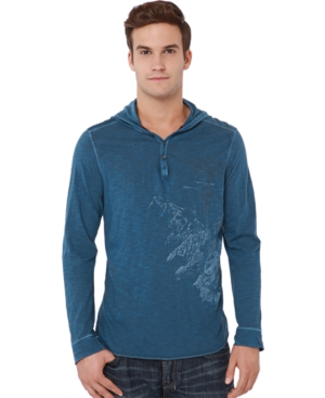 Buffalo David Bitton Shirt, Nebal Hooded Thermal