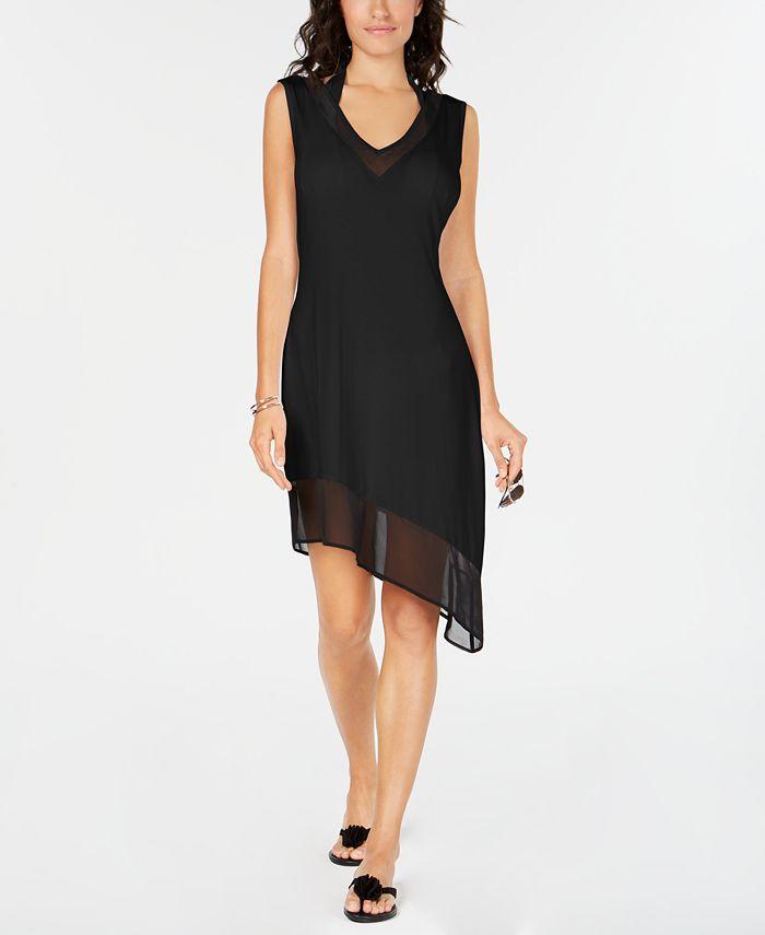 Calvin Klein - Asymmetrical-Hem Cover-Up