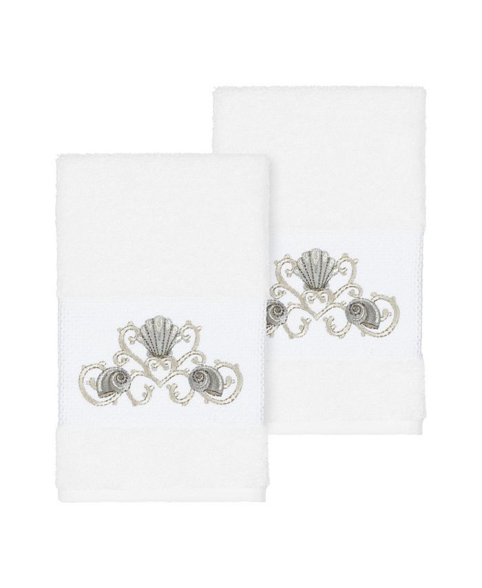 Linum Home - Bella 2-Pc. Embroidered Turkish Cotton Hand Towel Set