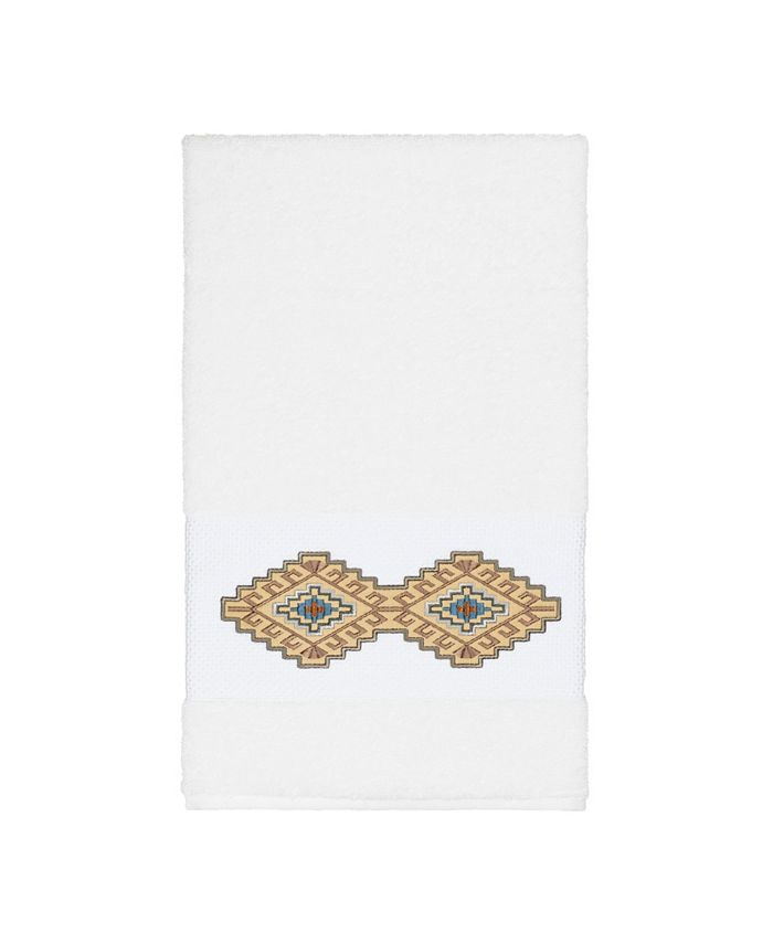 Linum Home - Gianna Embroidered Turkish Cotton Bath Towel