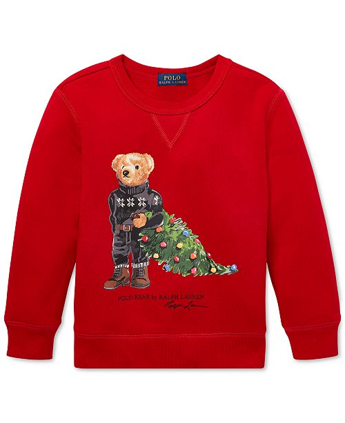 Christmas Polo Boots 2020 Polo Ralph Lauren Toddler Boys Holiday Bear Fleece Sweatshirt