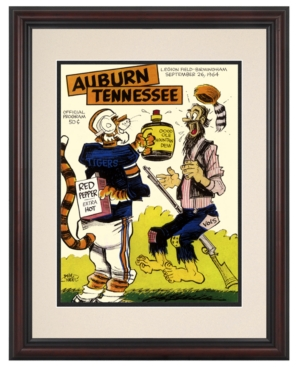 Mounted Memories Wall Art, Framed Auburn vs Tennessee Football Program Cover 1964
