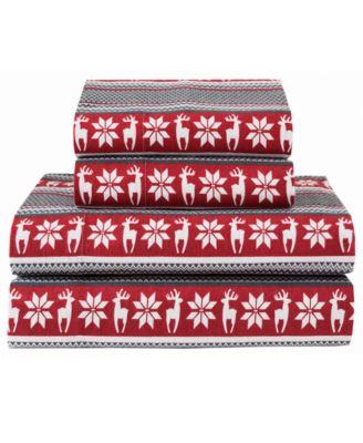 Winter Nights Cotton Flannel King Sheet Set