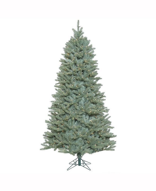 Vickerman 7.5 ft Colorado Blue Spruce Slim Artificial Christmas Tree With 800 Clear Lights
