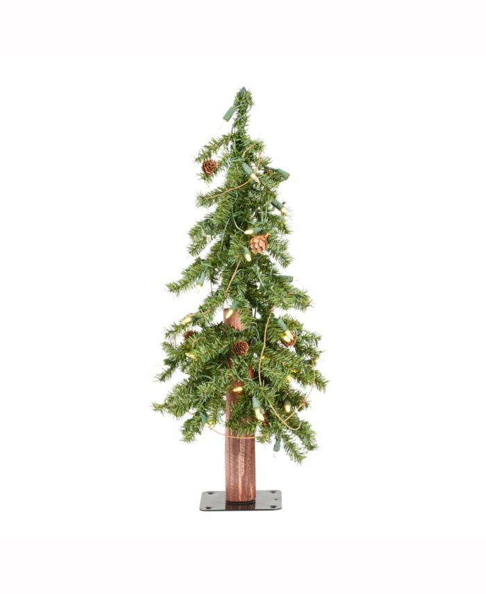 Vickerman 2 ft Alpine Artificial Christmas Tree, Featuring 105 Pvc Tips And 50 Warm White Dura-Lit Led Lights & Reviews - Holiday Shop - Home - Macy's