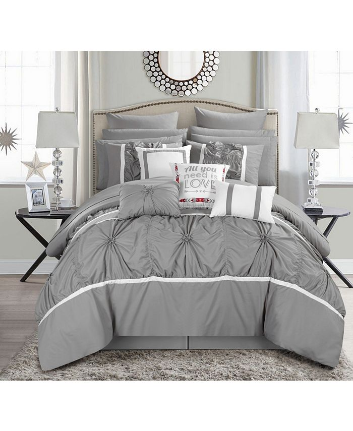 Chic Home - Ashville 16-Pc. Queen Bed In a Bag Comforter Set