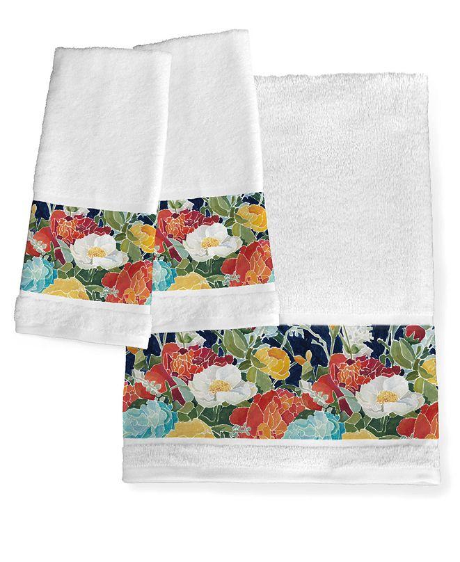 Laural Home Midnight Floral Bath Towel