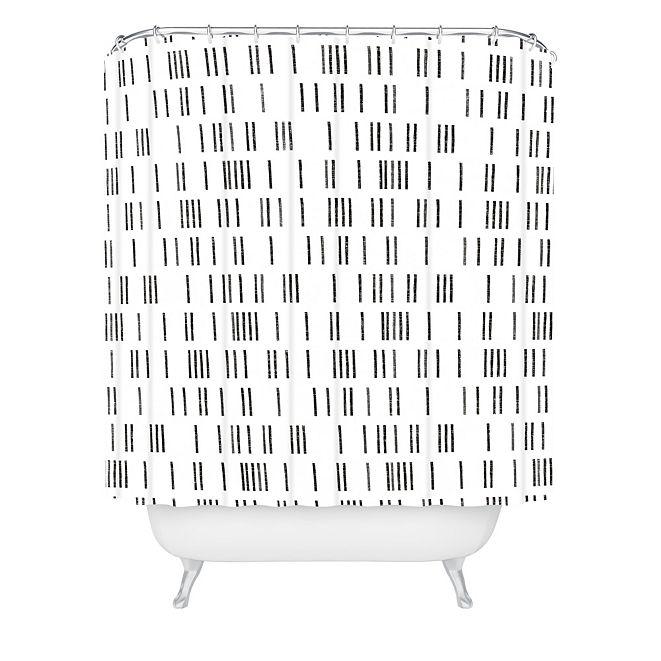 Deny Designs Holli Zollinger Bogo Mudcloth White Shower Curtain