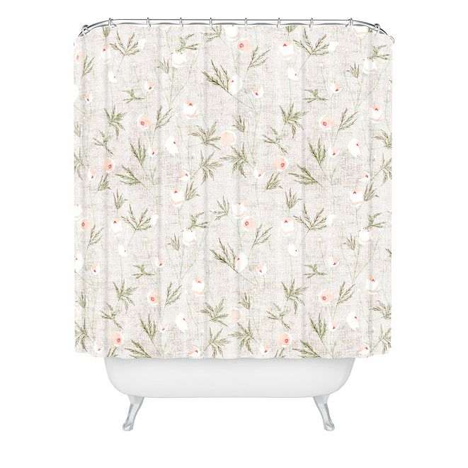 Deny Designs Holli Zollinger French Linen Anemone Light Shower Curtain