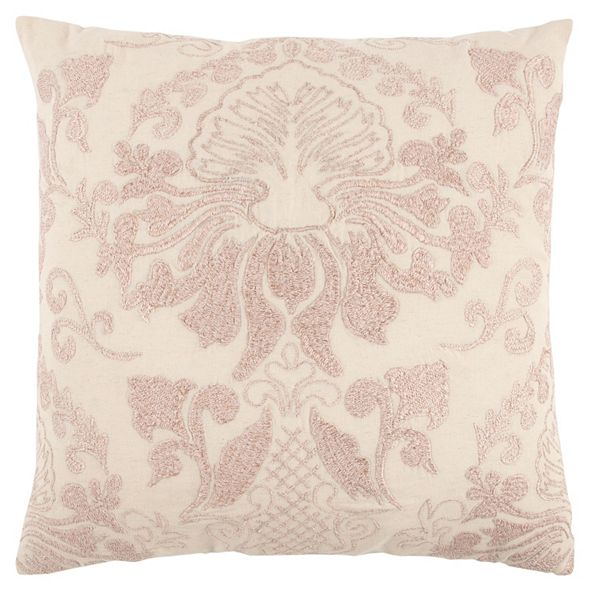 """Rizzy Home 20"""" x 20"""" Floral Damask Poly Filled Pillow"""