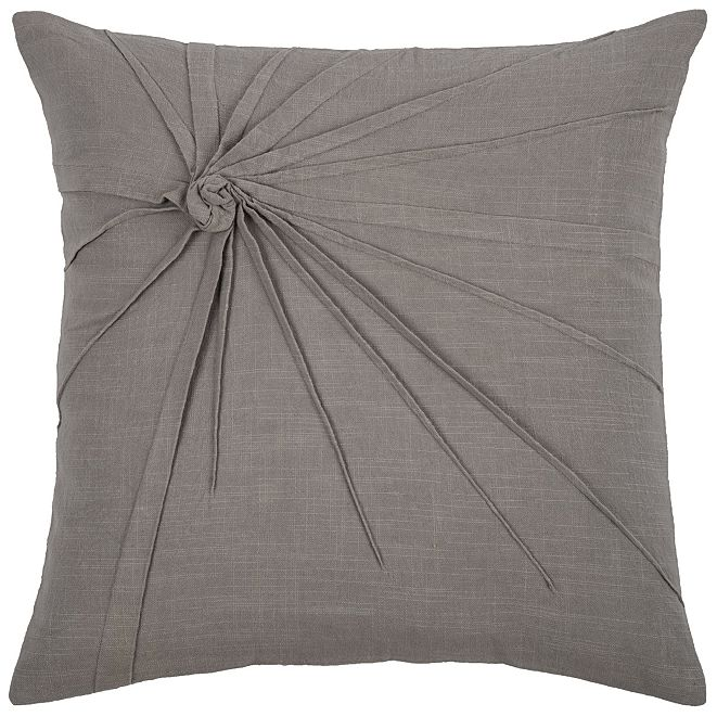 "Rizzy Home 18"" x 18"" Twisted Tacked Knot Poly Filled Pillow"