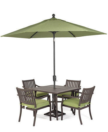 Madison Outdoor 5 Piece Set 40 Square Dining Table And 4 Dining Chairs
