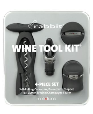 Metrokane Barware, Rabbit 4 Piece Wine Tool Kit