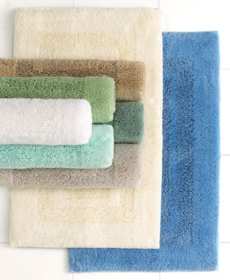 "Martha Stewart Collection Plush Squares Cotton 17"" x 24"" Bath Rug"