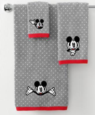 Disney Bath Towels  Disney Mickey Mouse 27  x 50. Disney Bath Accessories  Disney Mickey Mouse Trash Can   Bathroom