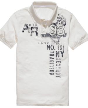 American Rag Shirt, Emblem Varsity Polo Shirt