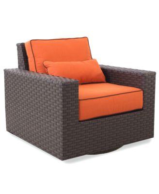 San Lucia Wicker Outdoor Swivel Chair