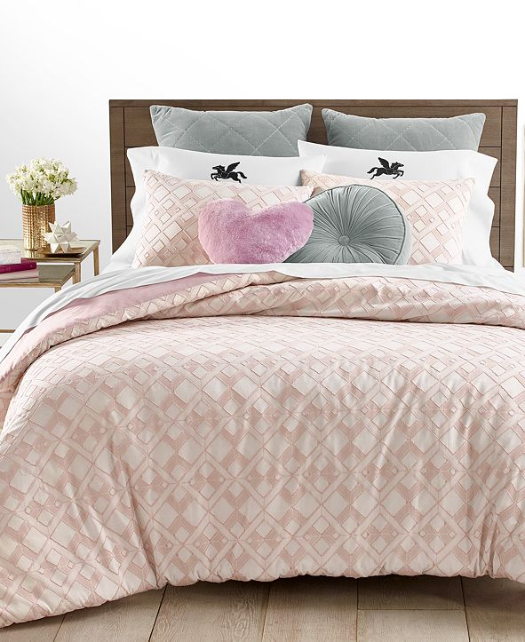 Martha Stewart Collection CLOSEOUT! Clip Jacquard 3-Pc. Full/Queen Comforter Set, Created for Macy's
