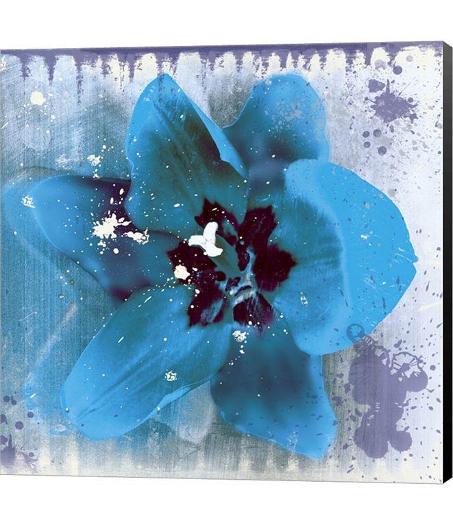 Metaverse Tulip Fresco (blue) by Erin Clark Canvas Art