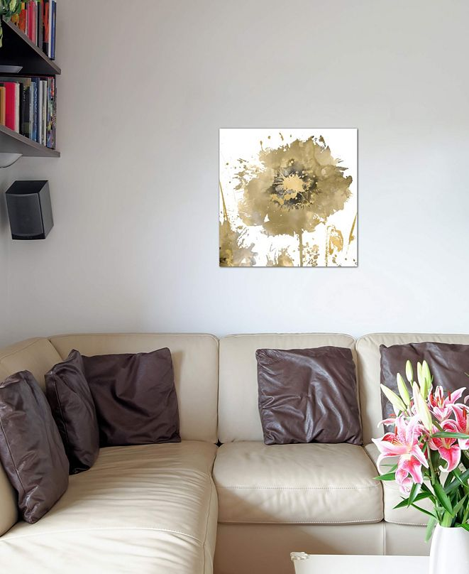 """iCanvas """"Flower Burst In Gold I"""" by Vanessa Austin Gallery-Wrapped Canvas Print"""