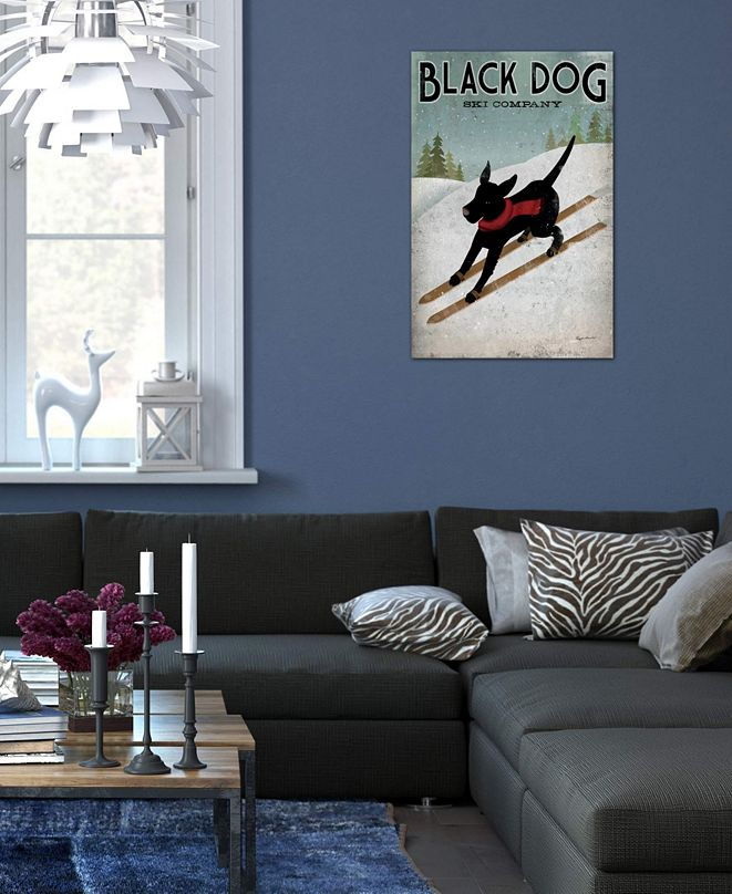 "iCanvas ""Black Dog Ski Co. I"" by Ryan Fowler Gallery-Wrapped Canvas Print (40 x 26 x 0.75)"
