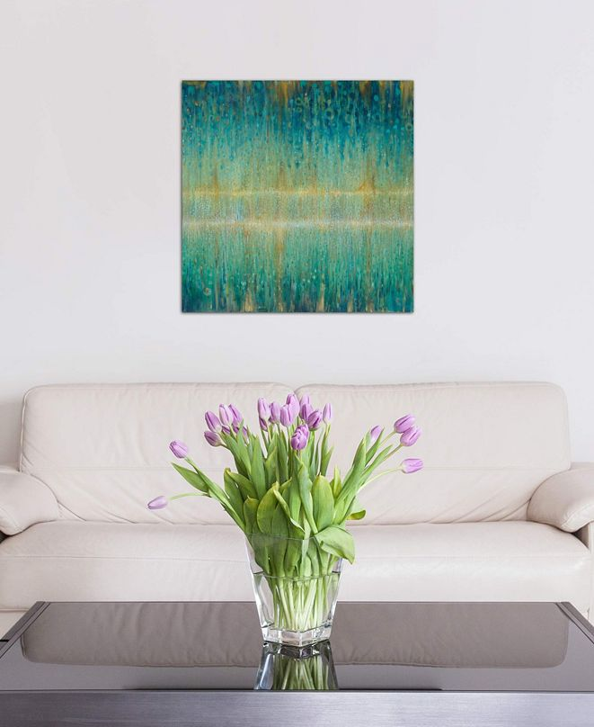 """iCanvas """"Rain Abstract I"""" by Danhui Nai Gallery-Wrapped Canvas Print (18 x 18 x 0.75)"""