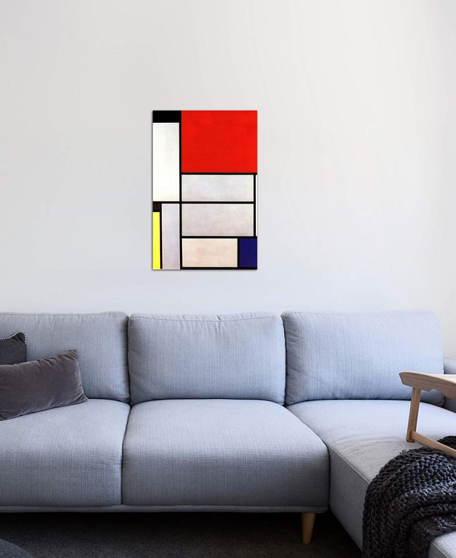 "iCanvas ""Tableau l, 1921"" by Piet Mondrian Gallery-Wrapped Canvas Print (40 x 26 x 0.75)"