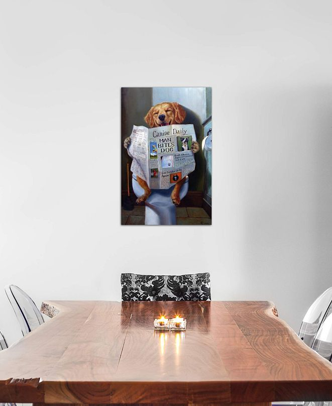 """iCanvas """"Dog Gone Funny"""" by Lucia Heffernan Gallery-Wrapped Canvas Print (26 x 18 x 0.75)"""