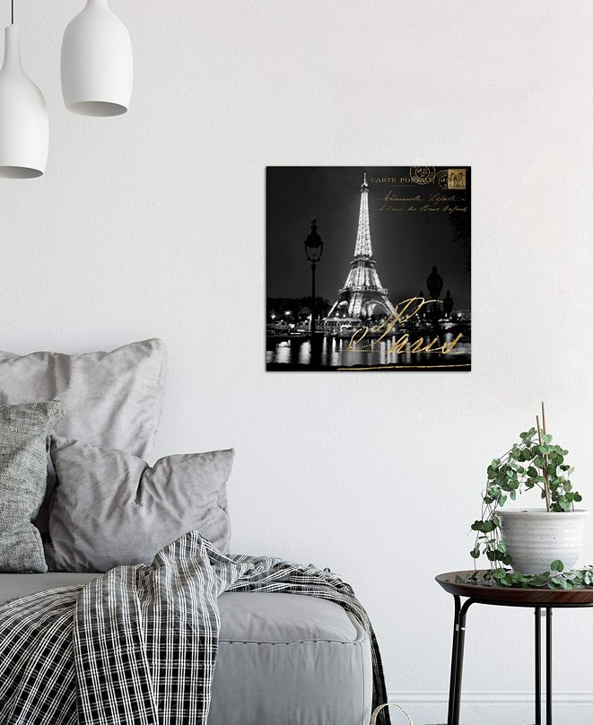 """iCanvas """"Paris At Night"""" by Kate Carrigan Gallery-Wrapped Canvas Print (26 x 26 x 0.75)"""