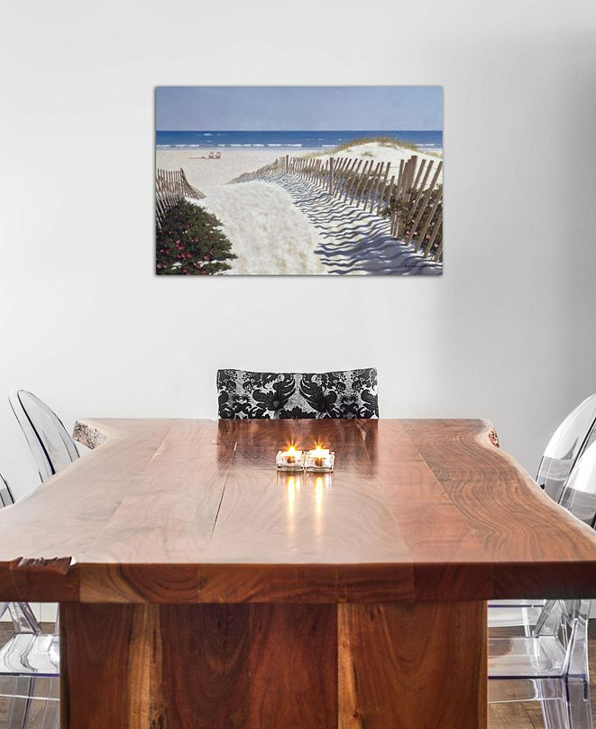"""iCanvas """"Walk To The Beach"""" by Zhen-Huan Lu Gallery-Wrapped Canvas Print (18 x 26 x 0.75)"""
