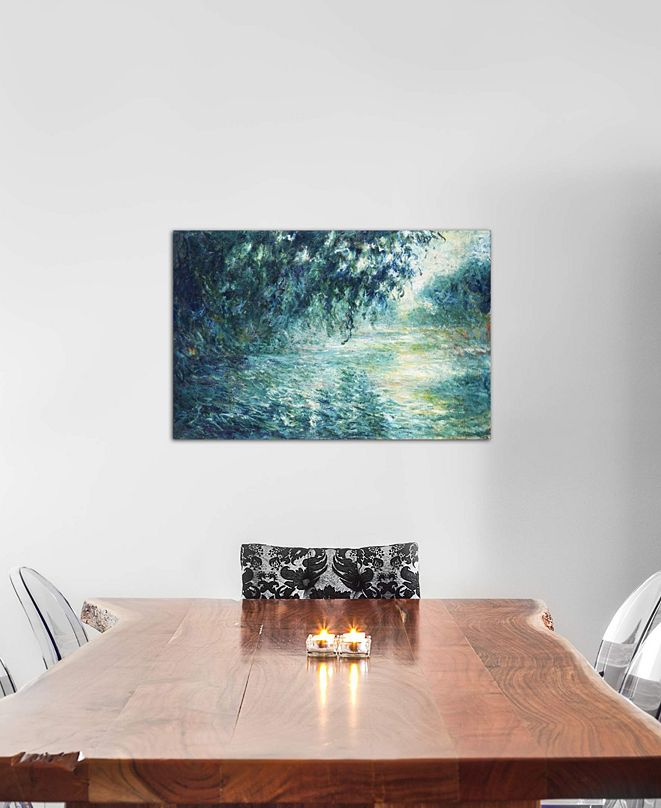 """iCanvas """"Morning on the Seine, near Giverny"""" by Claude Monet Gallery-Wrapped Canvas Print (26 x 40 x 0.75)"""