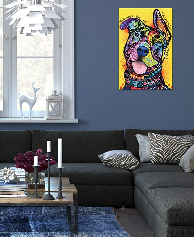 "iCanvas ""Rescues Are My Favorite Breed"" by Dean Russo Gallery-Wrapped Canvas Print (40 x 26 x 0.75)"