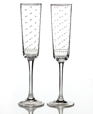 CLOSEOUT! Martha Stewart Collection Toasting Flutes, Set of 2 Sweethearts