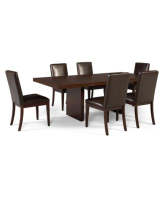 Corso Dining Room Chairs Leather Set Of 6 Furniture Macy 39 S