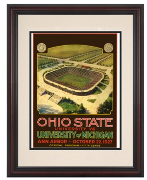 Mounted Memories Wall Art, Framed Michigan vs Ohio State Football Program Cover 1927