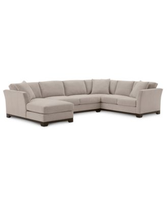 "Elliot II 138"" Fabric 3-Pc. Chaise Sectional, Created for Macy's"
