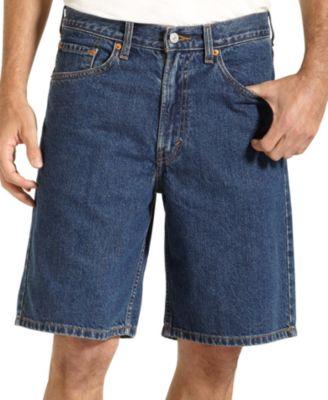 Levi's 550 Relaxed Fit Dark Wash Jean Shorts - Shorts - Men - Macy's