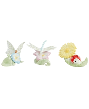 Lenox Figurines, Set of 3 Butterfly Meadow Insects