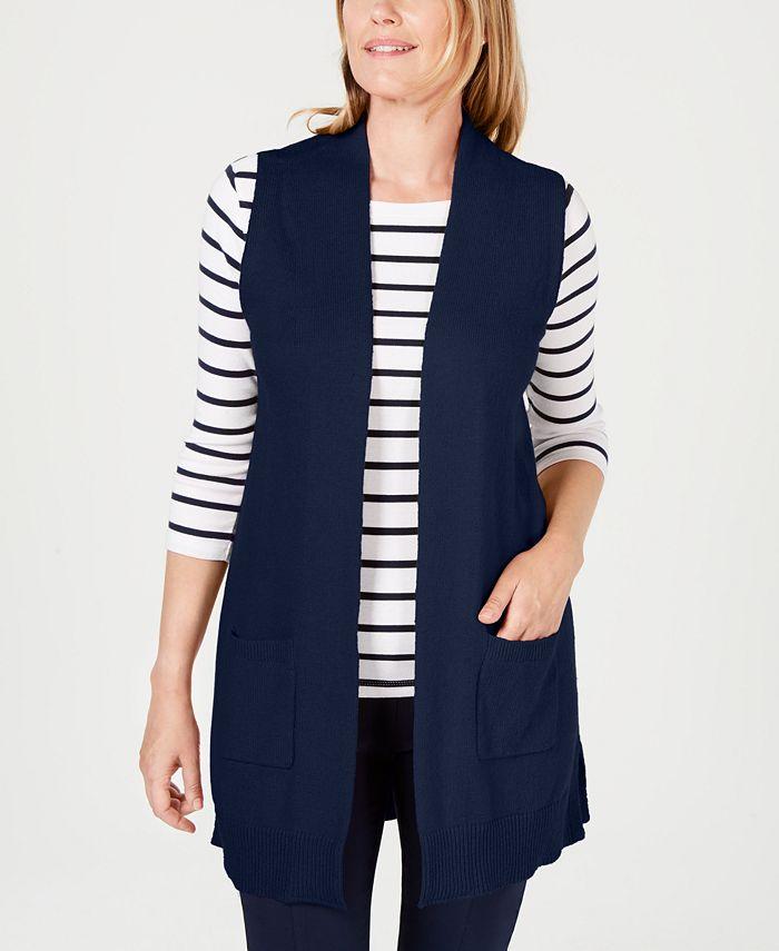 Karen Scott - Petite Open-Front Vest