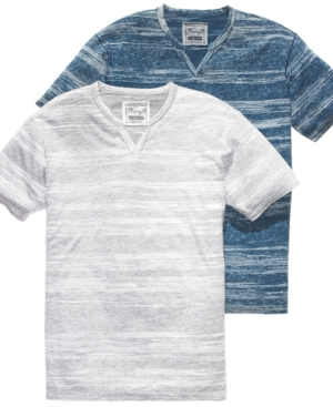 Retrofit T Shirt, T Shirt, Graphic Short Sleeve Split Neck Printed Stripe T Shirt