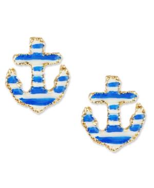 Betsey Johnson Earrings, Anchor Stud Earrings