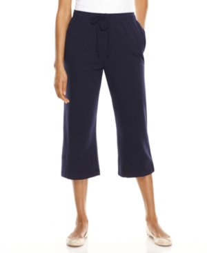 Karen Scott Capris, Pull-On Relaxed Fit Cropped Pants