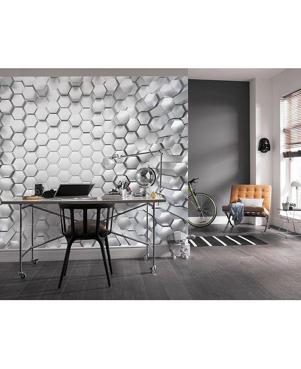 Brewster Home Fashions Titanium Wall Mural
