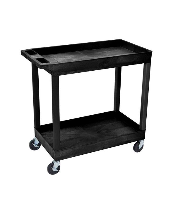 Clickhere2shop Tub Cart 2 Shelves