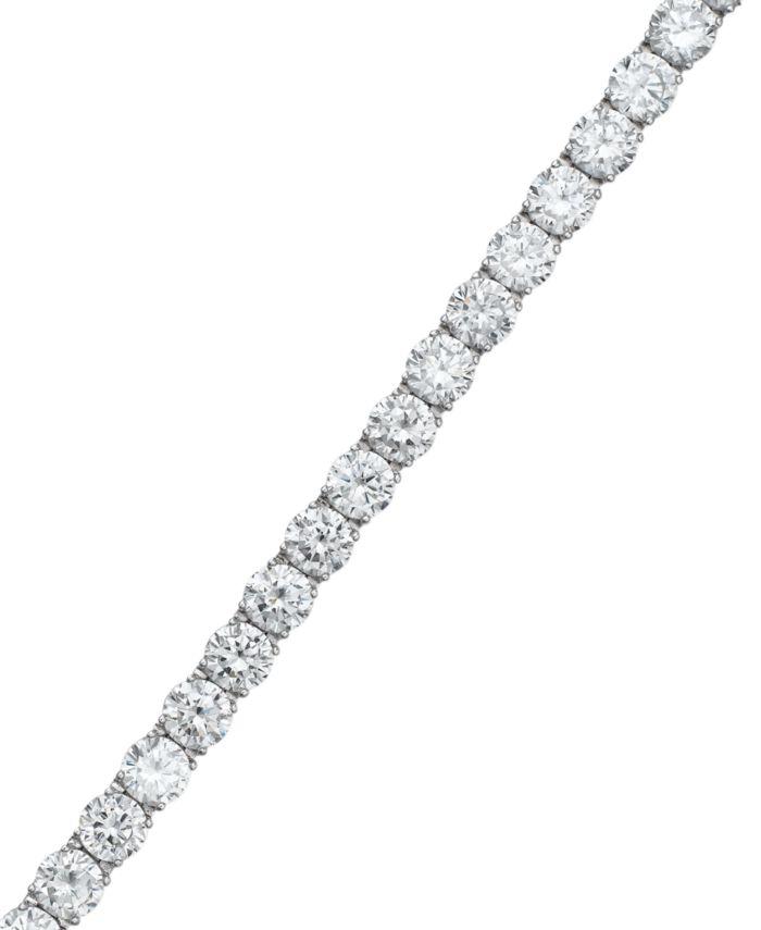 Eliot Danori Cubic Zirconia Classic Tennis Bracelet (13-1/3 ct. t.w.), Created for Macy's & Reviews - Bracelets - Jewelry & Watches - Macy's