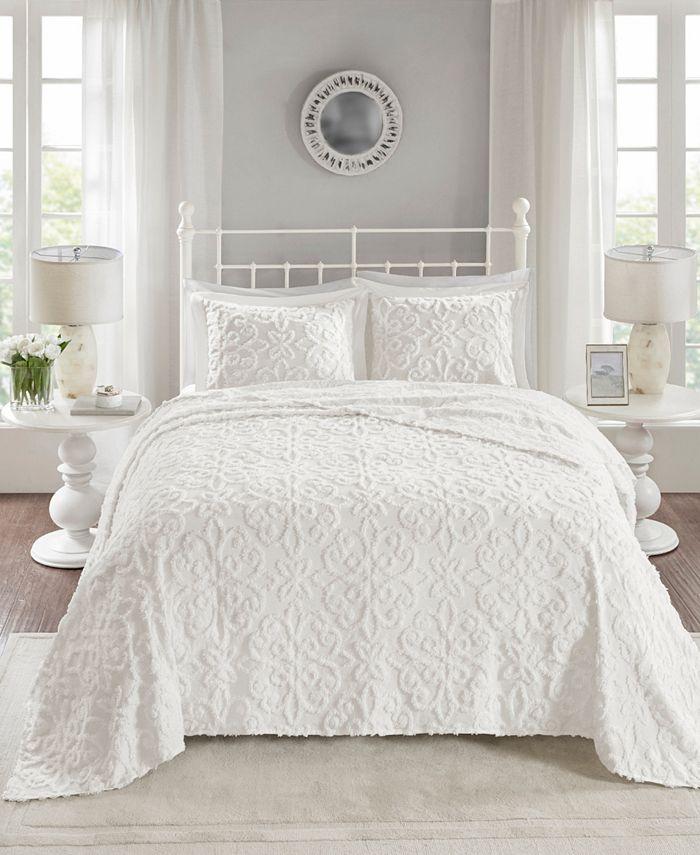 Madison Park - Sabrina 3-Pc Full/Queen Cotton Chenille Bedspread Set