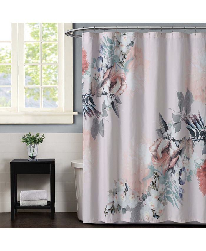 Christian Siriano New York - Christian Siriano Dreamy Floral 1 Piece Shower Curtain