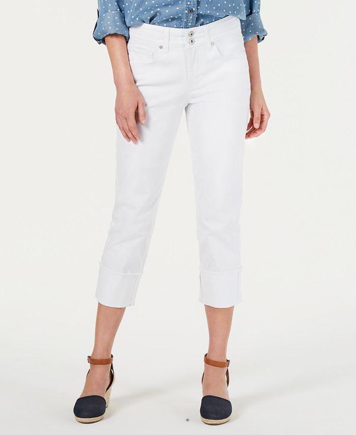 Style & Co - Petite Curvy-Fit Cuffed Capri Jeans