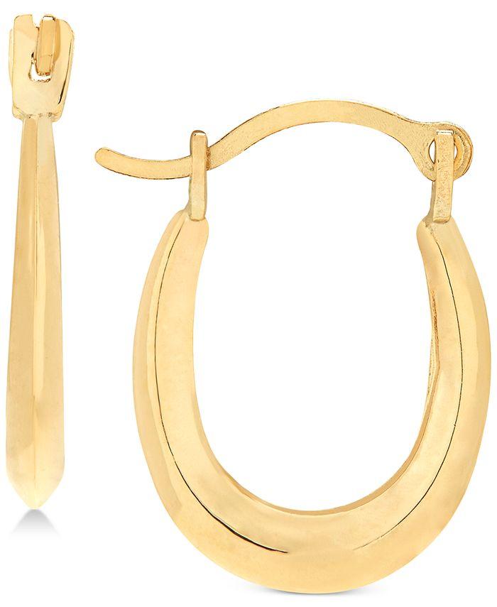 Macy's - Children's Polished Oval Hoop Earrings in 14k Gold